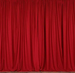 Polyester Red Drapes