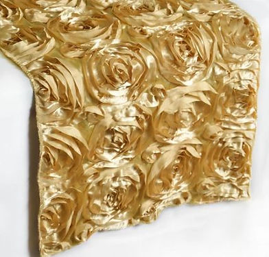 Rosette Champagne 14X108 Table Runner..J