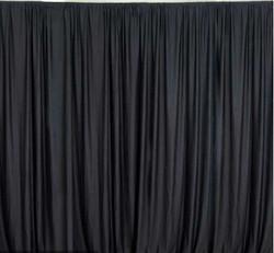 Polyester Black Drapes
