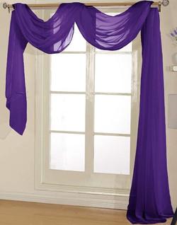 Purple Sheer Valance - 54X216
