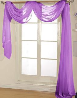 Lilac Sheer Valance - 54X216