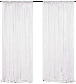 White Sequin Panels