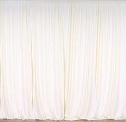 Polyester Ivory Drapes