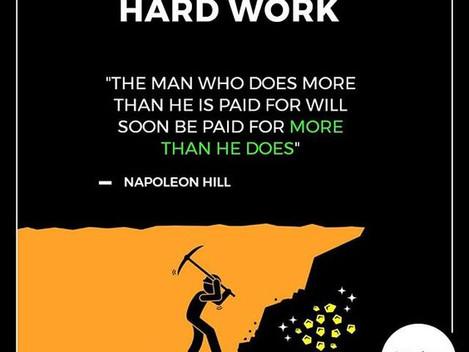 Hard Work + Dreams + Dedication = Success!!