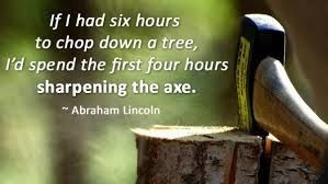 When was the last time you sharpened your AXE?