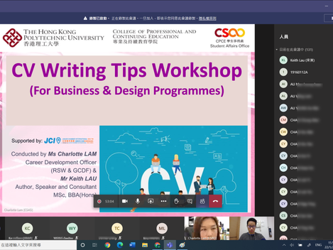 Just shared CV Writing Tips with more than 130+ students.