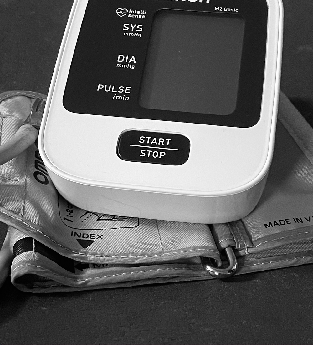A blood pressure monitor at Graham Fit Personal Training