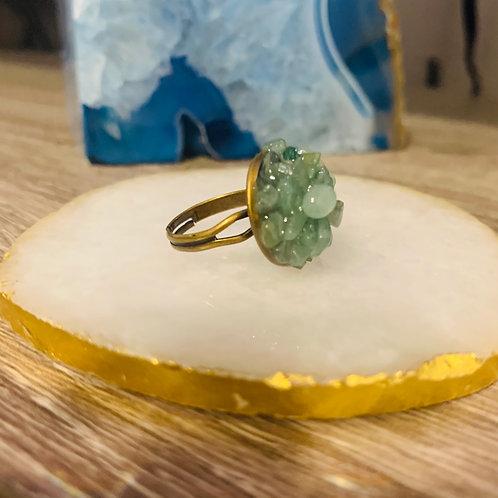 Aventurine ~ Prosperity ~ Crystal Cluster Ring