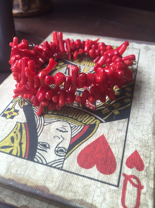 Red Bamboo Coral ~ Stress Relief ~ Crystal Bracelet