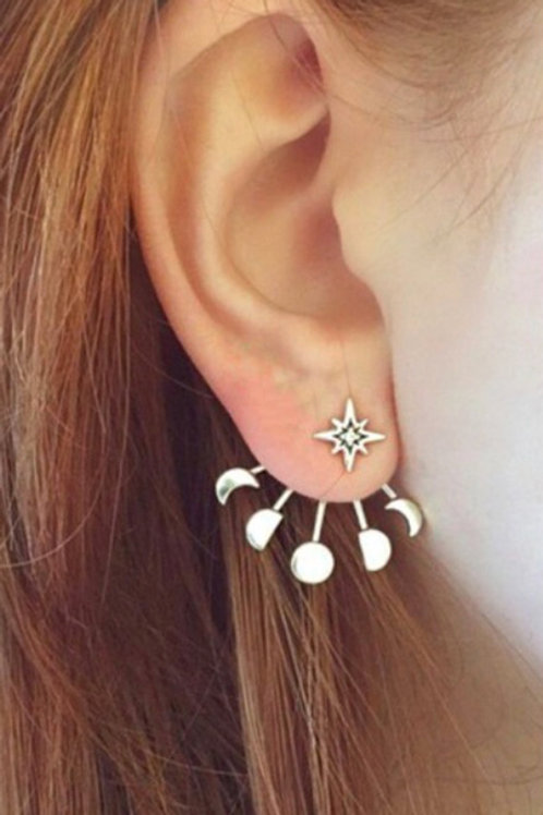 Moon Phases Jacket Earrings