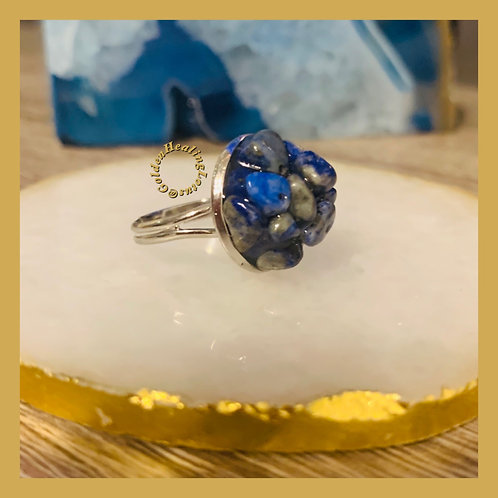 Lapis ~ Royalty ~ Crystal Cluster Ring