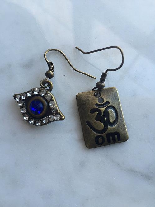 3rd Eye ~ Om earrings