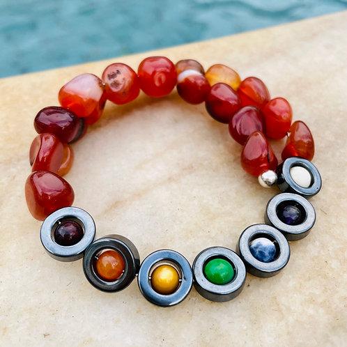 Carnelian 7Chakra ~ Super Power ~ Crystal Bracelet