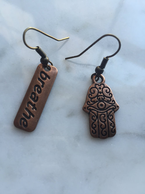 Breathe ~ Hamsa Earrings