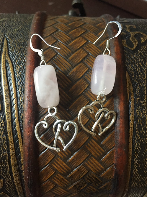 Rose Quartz ~ Love ~ Crystal Earrings