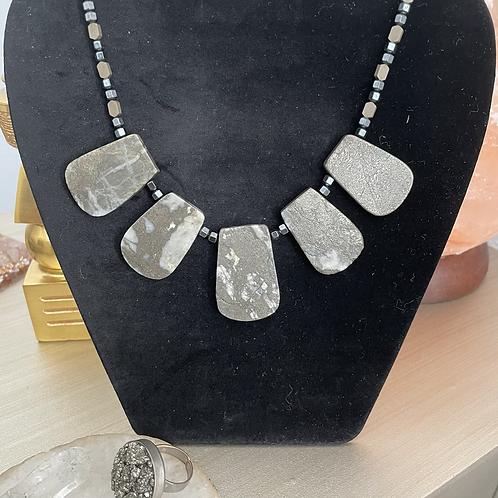 Pyrite Statement Necklace