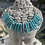 Thumbnail: Turquoise Spike Statement Necklace
