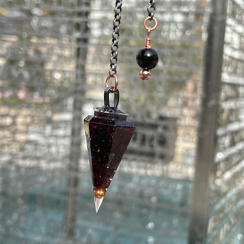 Garnet Orgone Pendulum