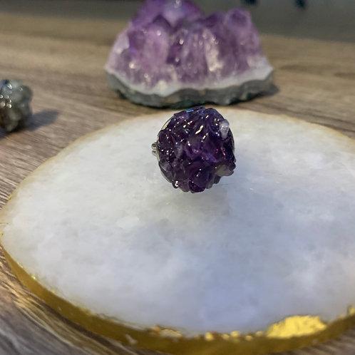 Amethyst ~ Meditation ~ Crystal Cluster Ring