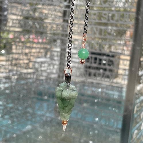 Aventurine Orgone Pendulum