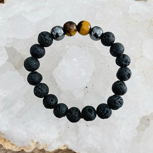 Royal Regal Men's crystal bracelet