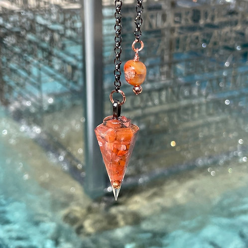 Carnelian Orgone Pendulum