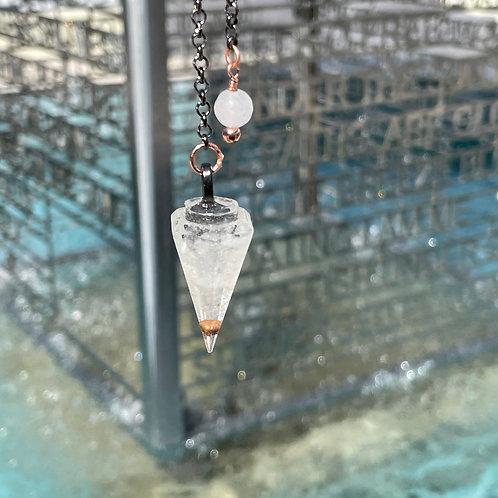 Clear Quartz Orgone Pendulum