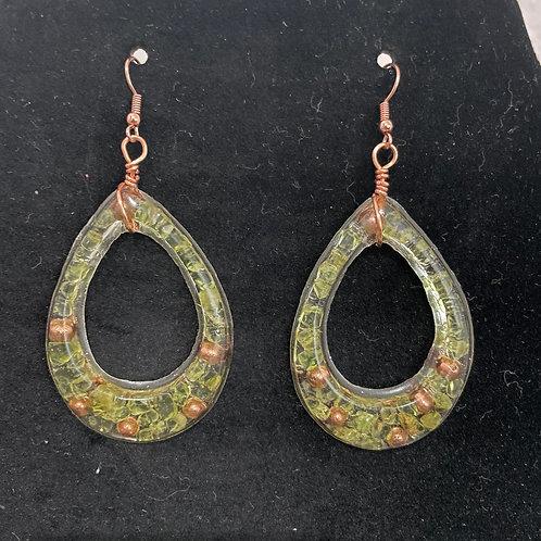 Peridot Orgonite Earrings