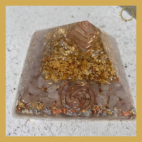 Rose Quartz ~ Orgonite Pyramid