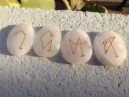 Archangel Palm Stones ~ Rose Quartz