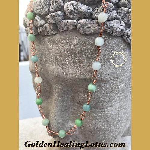 Copper & Amazonite Chain Necklace