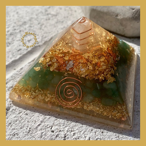 Aventurine ~ Orgonite Pyramid