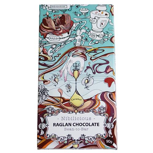 Nibilicious (caramel with cacao nibs). 90g