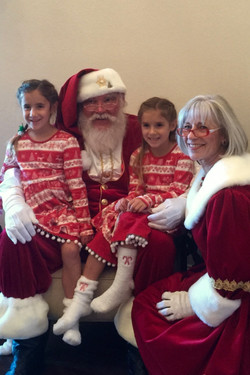 photos with Santa and the Mrs.