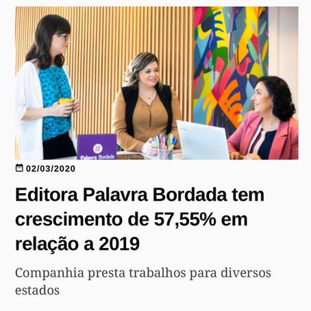 Palavra Bordada ganhando as manchetes