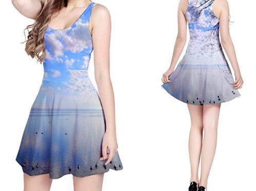 Sleeveless Fit-&-Flare Dress  / FOREVER SKIES