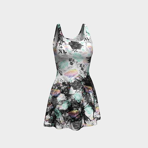 Sleeveless Fit-and-Flare Dress / Fiji