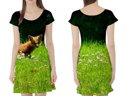 Short sleeve Fit-&-Flare Dress / BABY FOX