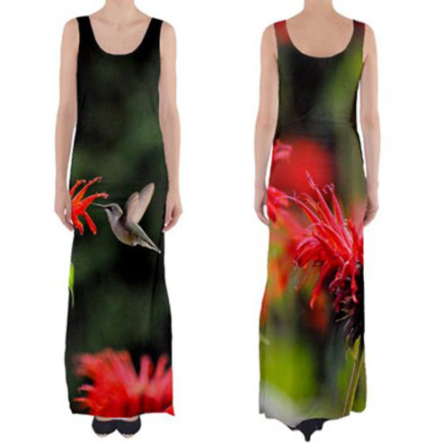 Sleeveless Fitted Long Dress / HUMMINGBIRD