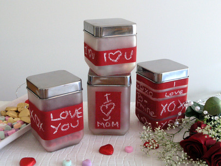 DIY  Valentine Love Jars