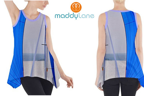 Sleeveless Tank Tunic /BLUE SAILS
