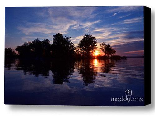 Wart art / Blue sunset reflections