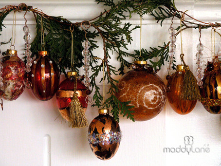 Diy Elegant Christmas Baubles