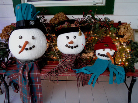 Transform your fall pumpkins into holiday decor