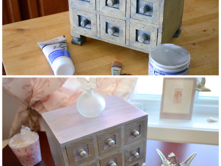 Wooden Jewelry Box Stylish Diy Makeover ~ Before and After