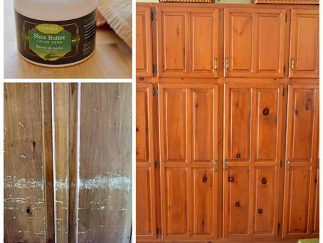 Reviving Wood Cupboards ~ using facial cream