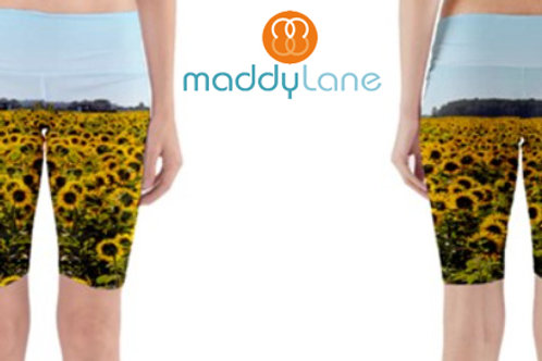 Yoga Shorts / SUNFLOWER FIELDS