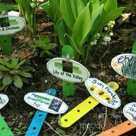 Designs your own enchanting garden labels