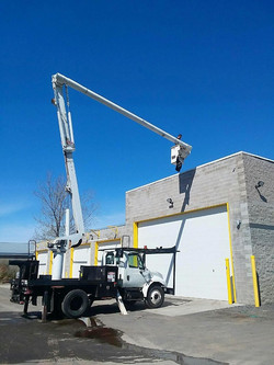 We repair bucket trucks!