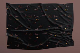 Black bird fabric design 2020